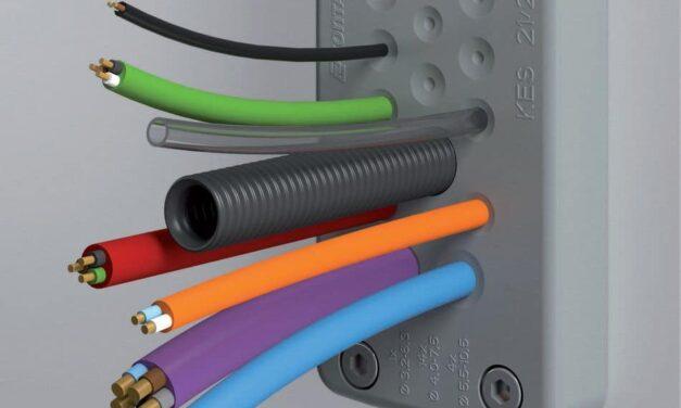 Kabeldurchführungsplatten ermöglichen schnelle Einführung nichtkonfektionierter Leitungen und Schläuche