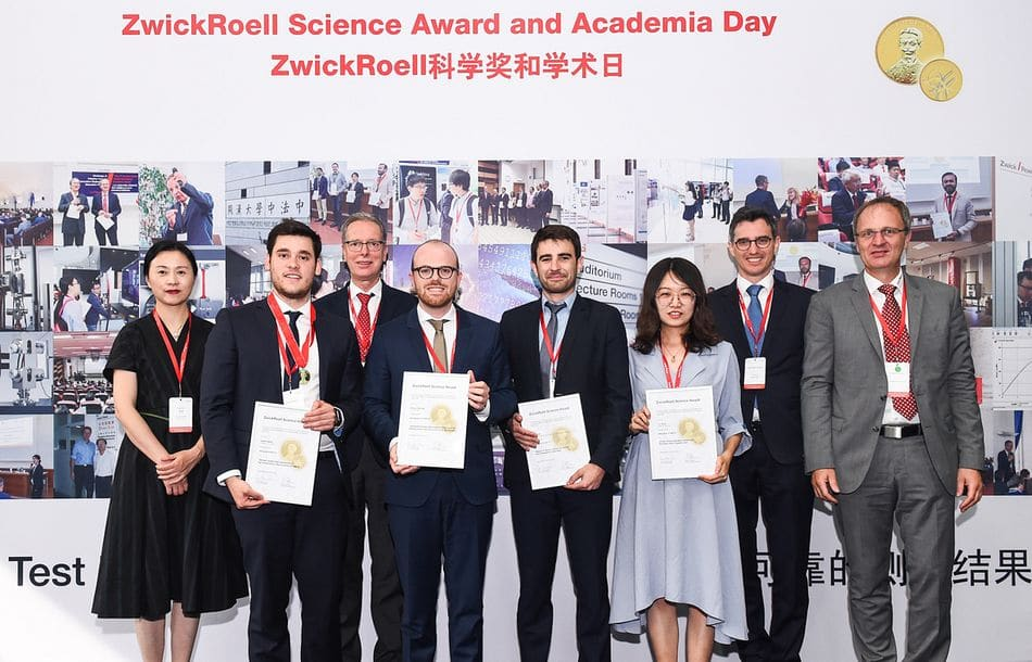 ZwickRoell Science Awards in Shanghai verliehen