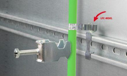 EMV Schirmklammern zur Montage auf C-Schienen