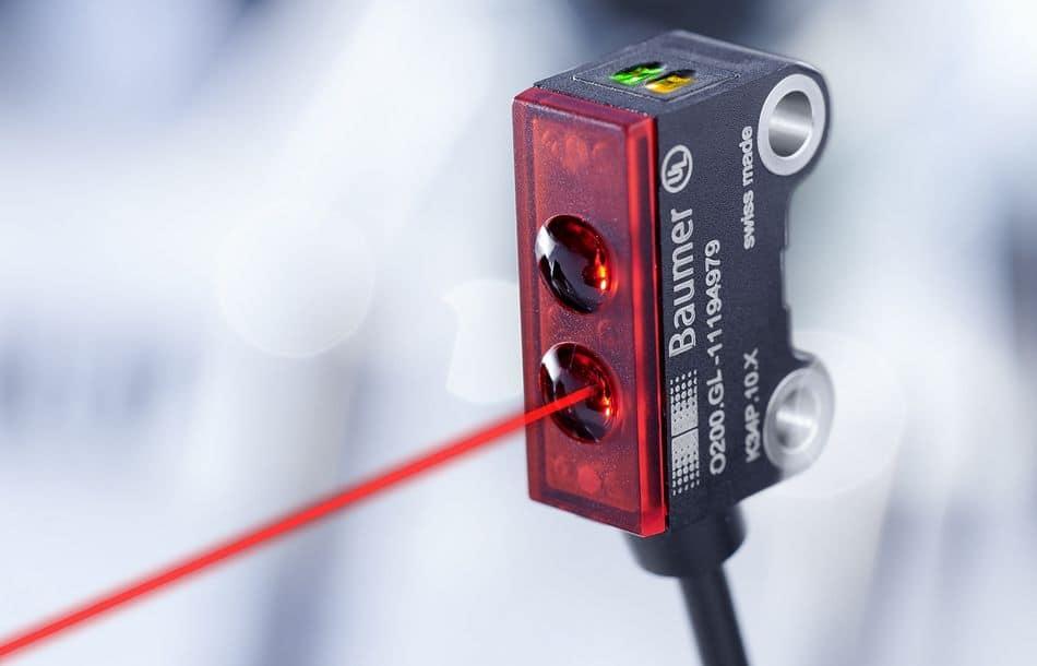 Lasersensor zur Erkennung kleinster Objekte