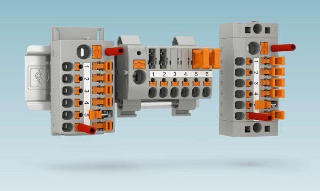 Anschlussfertige Verteilerblöcke mit integriertem Trennelement